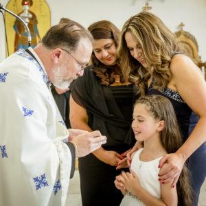 Greek Orthodox Baptism - Myah